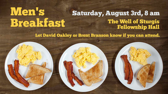 Men's Breakfast Announced for August