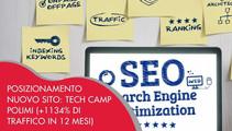 Posizionamento nuovo sito: progetto di SEO per Tech Camp Polimi (+1134% di traffico in 12 mesi)