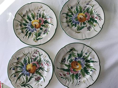 Italian Floral Dessert Plates (10)