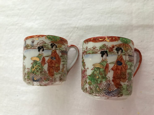 Geisha Girl Demitasse Cups (2)