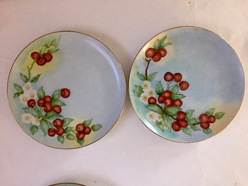 Cherries & Blossom Dessert Plate