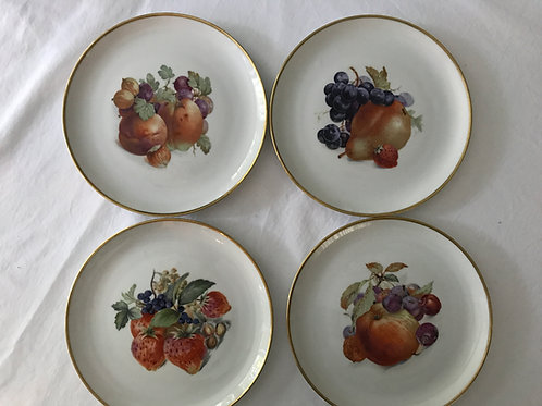 Vintage Fruit Dessert Plates (8)