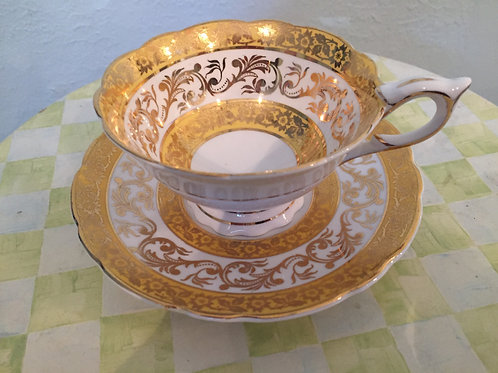 Royal Staffor Gold Filigree Tea Cup