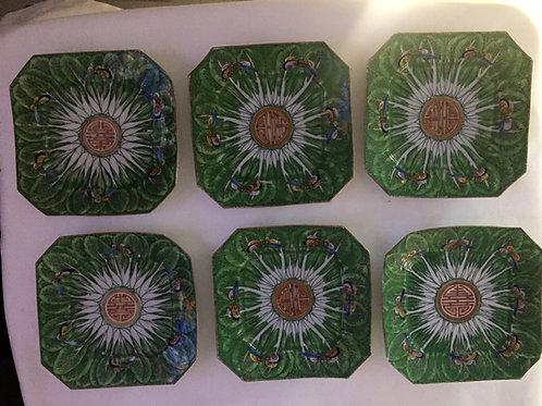 6 Cabbage Leaf Export Dessert Plate