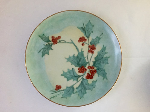 Christmas Holly Dessert Plate