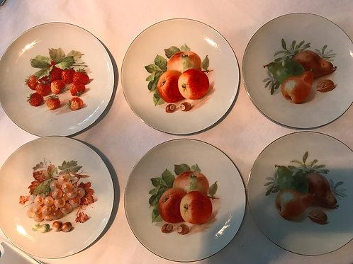 Vintage Bavarian Fruit Plates (7)