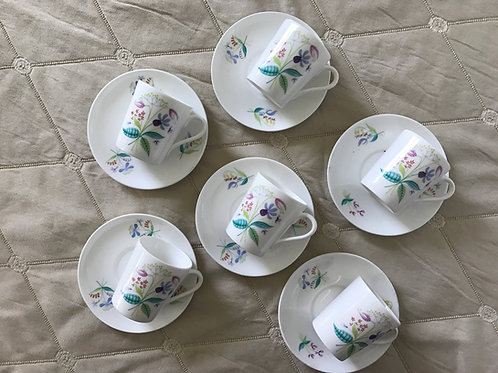 Swedish Demitasse Cups & Saucer