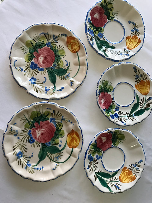 Italian Floral Sauces (3), small plates(2)