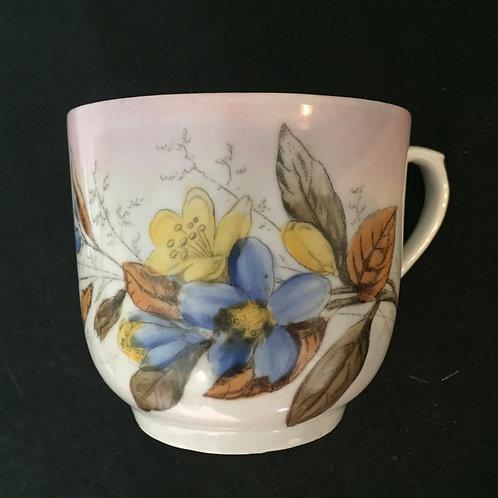 Blue & Yellow Mustache Mug