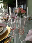 Table Glamour Glassware pink table glamour