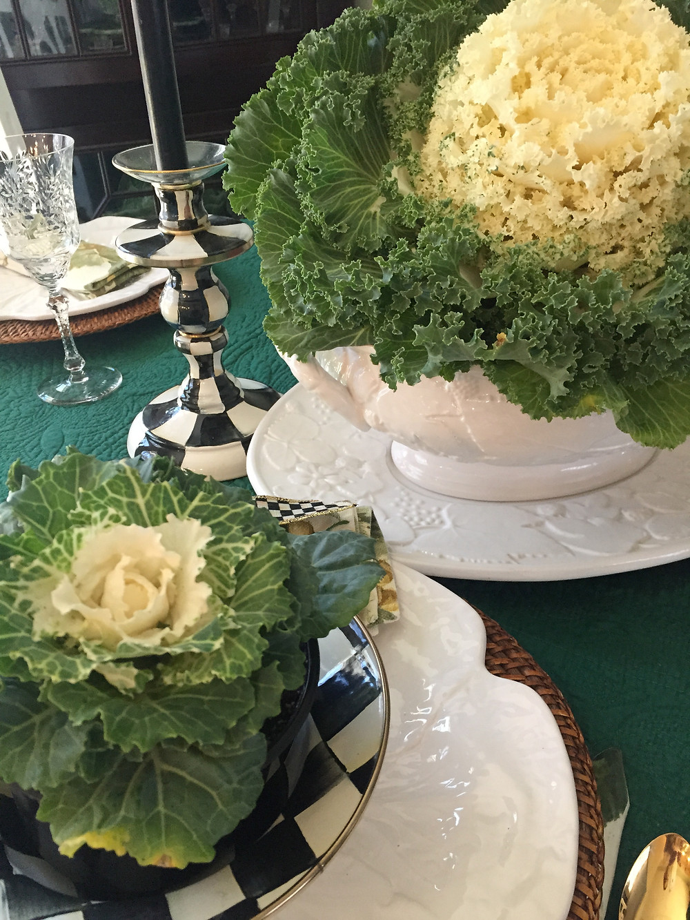 Table Glamour Table Setting Kale