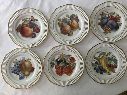 Vintage Dessert Fruit Plates (7)