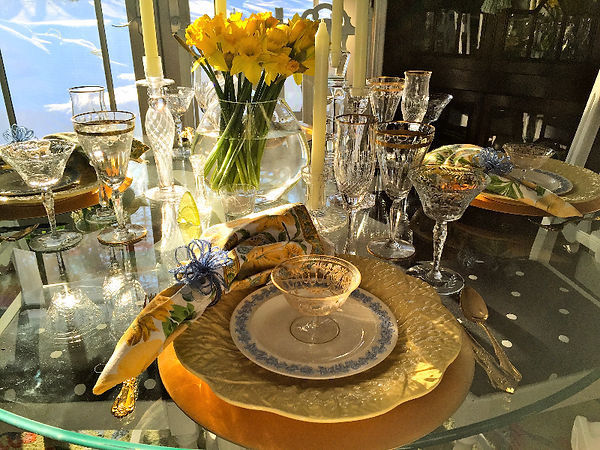 Table Glamour Table Setting Spring