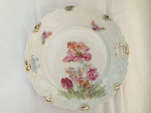 Vintage Pink Parrot Tulip Dessert Plate