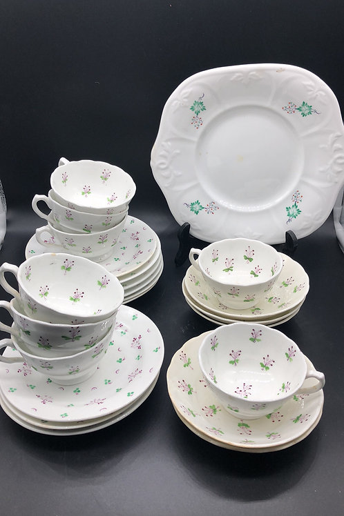 Antique Sprigware 27 pieces