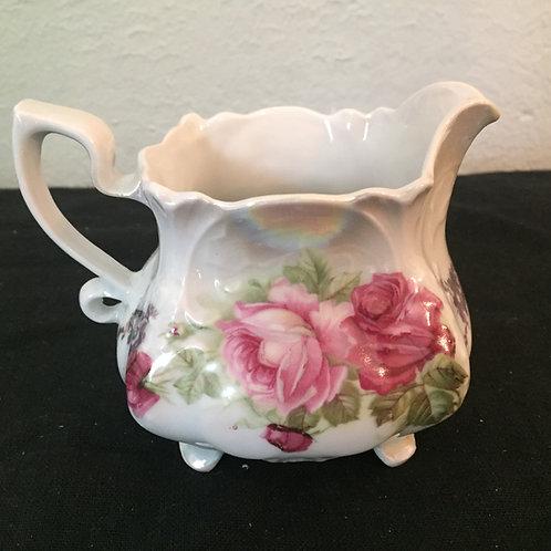 Vintage Pink Roses Creamer