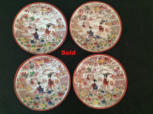 Geisha Girl Dessert Plates (7)
