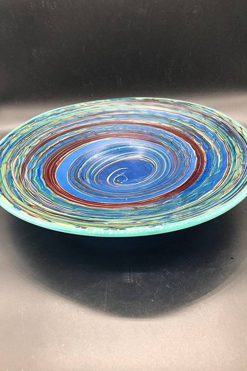J.Poirier Blue Glass Bowl- collectible