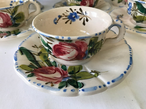 Italian Floral Demitasse Cups (5)