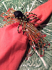 Fall Tablescape halloween spider napkin rings