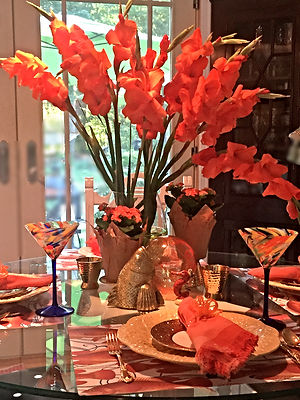 Fall Tablescape Orange and Yellow