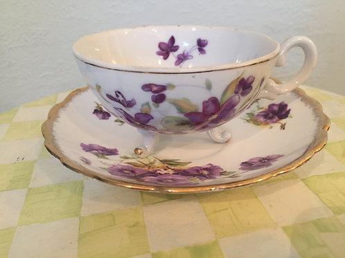 Rosina Pansy Tea Cup