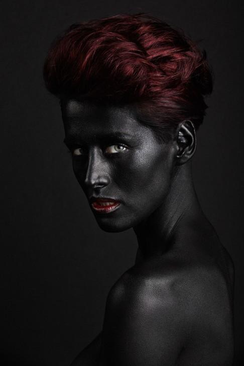 Make up: Anja Skok Photo: Primož Bregar Model: Zlata Okugic Bodypainting: Maja Čuk Hair: YMS - Žiga Abram Assistant: Matic Oblak