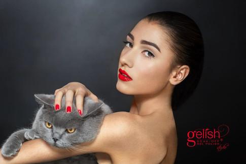 Make up: Anja Skok Foto: Miha Peroša  Model: Zala Đurić Ribič  Naročnik in idejni vodja: Mateja Klemše - Gelish Studio  Hair: Luka Lokar - Young Mič Styling