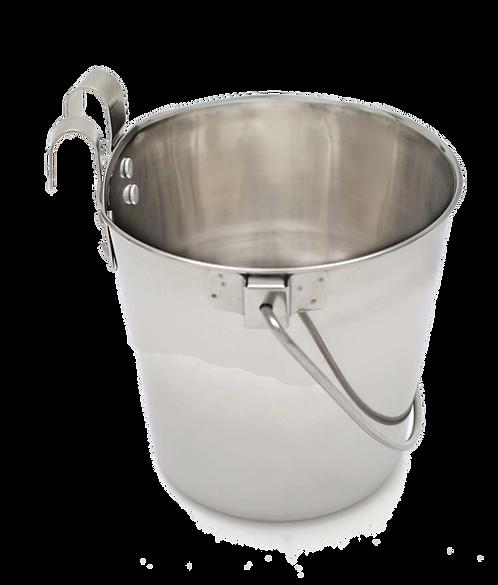 Flat Sided Bucket w/ Hooks