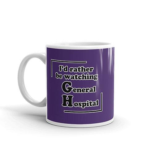 I'd Rather Be Watching GH Mug - Purple