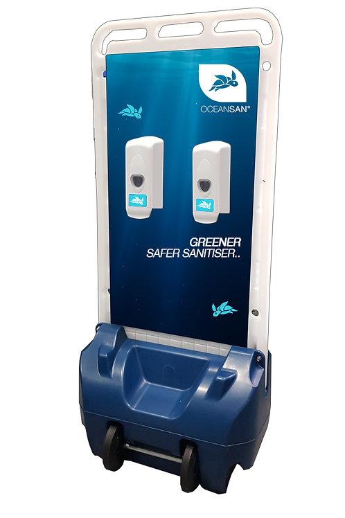 4 Bay Outdoor Hand Sanitiser Dispenser Station