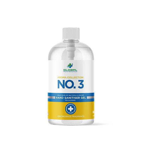 Premium Hand Sanitiser 500ml GPS Aroma Collection No:3 - Lemongrass