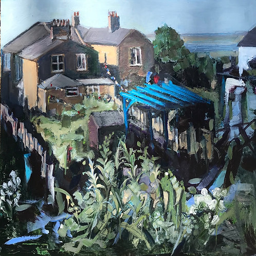Looking down on The Gardens Leigh on sea by Terry Sibson