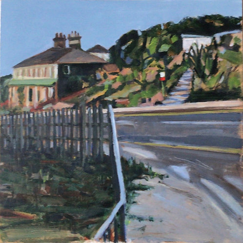 Leigh Hill going towards Old Leigh by Terry Sibson