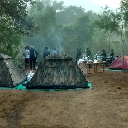 Devkund waterfall camping