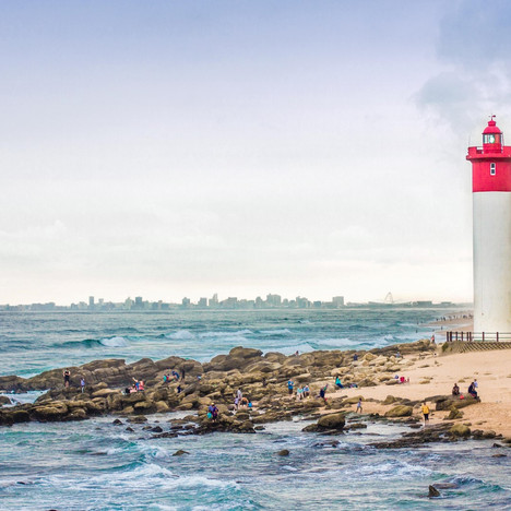 Durban skyline and lighthouse