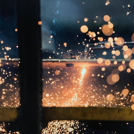 Sparks flying, Industrial Shoot