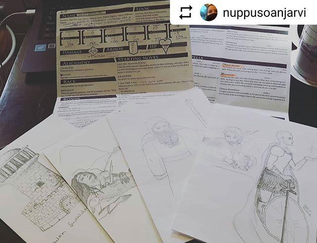 #Repost _nuppusoanjarvi with _instatoolsapp ・・・_Kaikkea sitä on tullut piirrusteltua tässä kampanjan