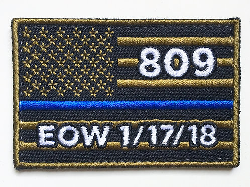 809 Flag Patch