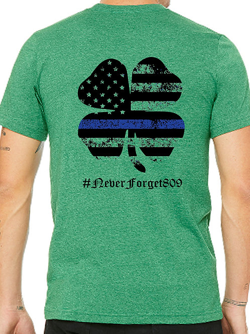 Blue Line Shamrock T-shirt
