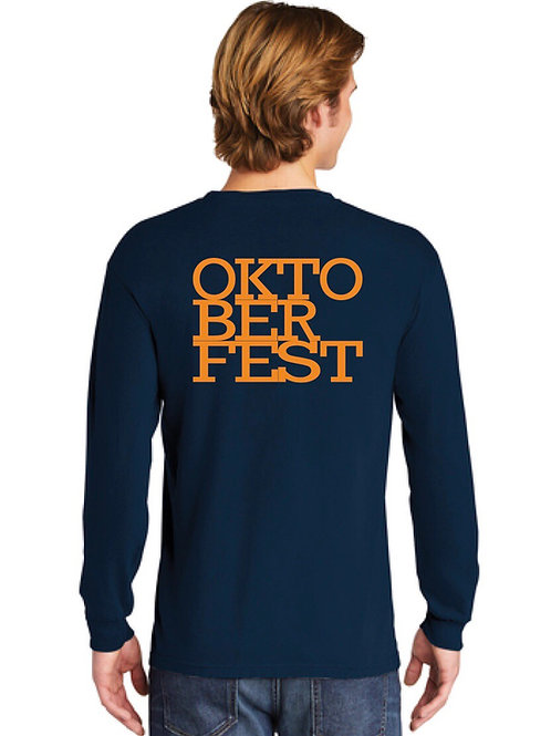 Navy Oktoberfest Long Sleeve T-shirt
