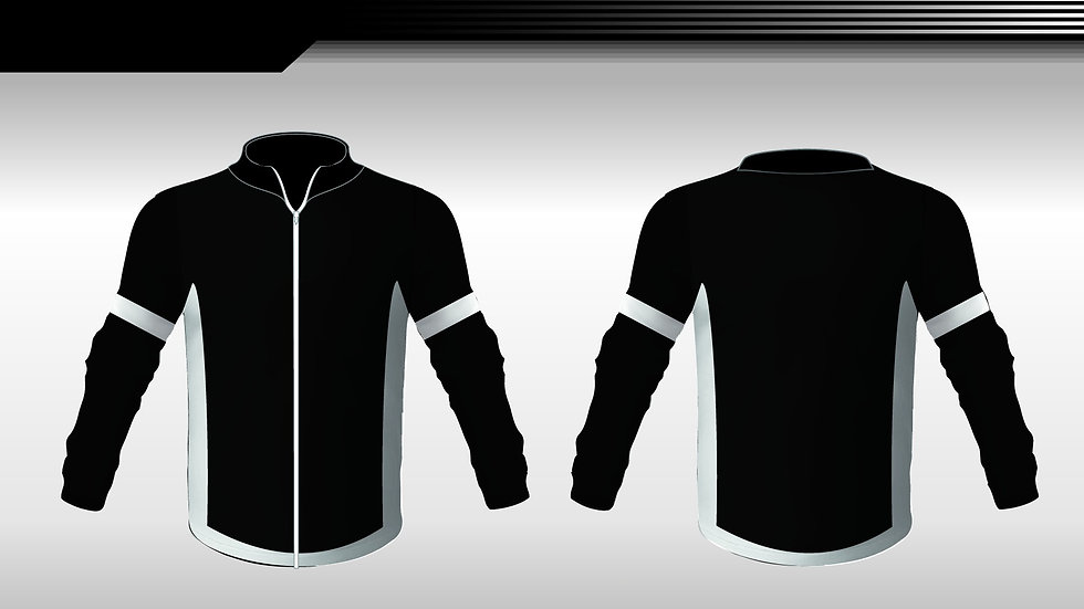Retro tracksuit top black and white
