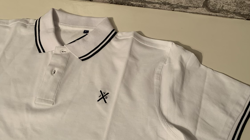 YJB polo shirt white