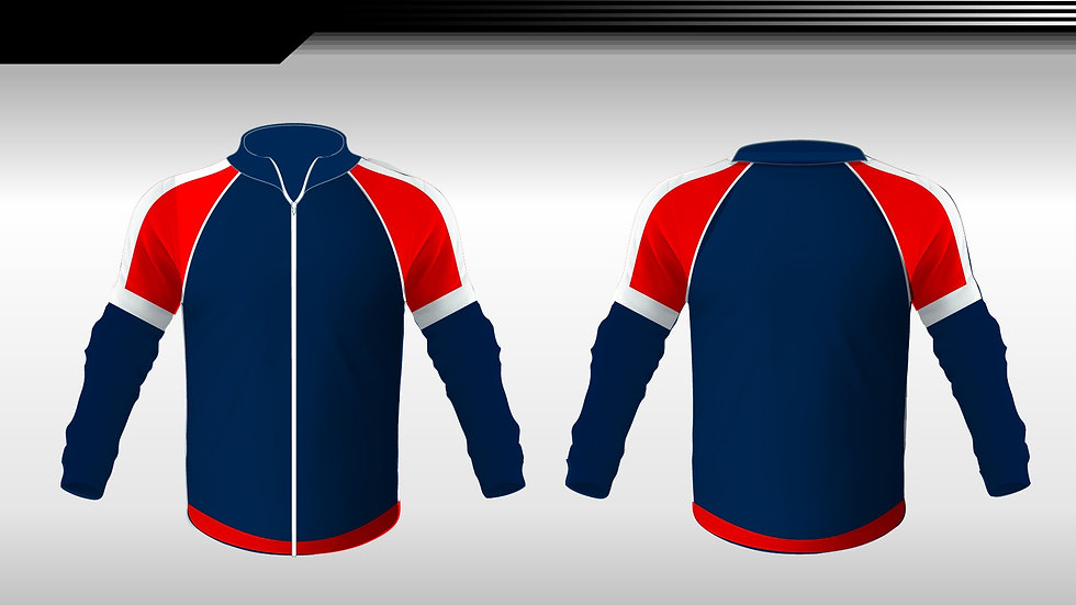 Retro Blue and red Tracksuit