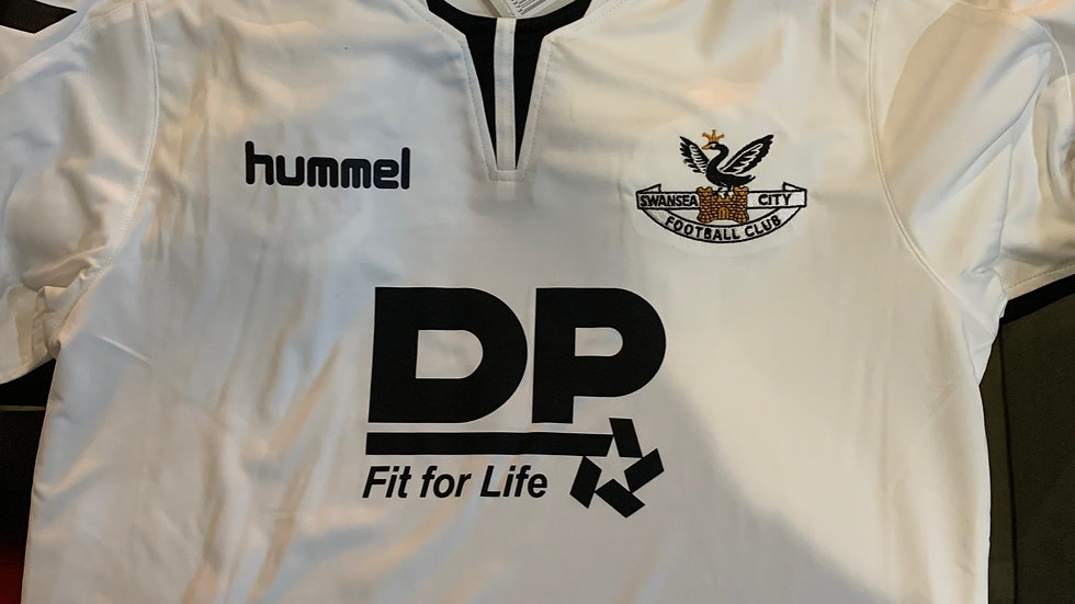 Swansea Hummel White DP Shirt
