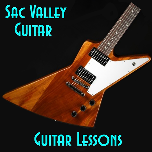 One Month of Guitar Lessons Gift Card (4 Sessions)