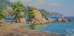 Максим Сидоренко, Пляж Санта Кристина, х.м., 50х100, 2014..jpg