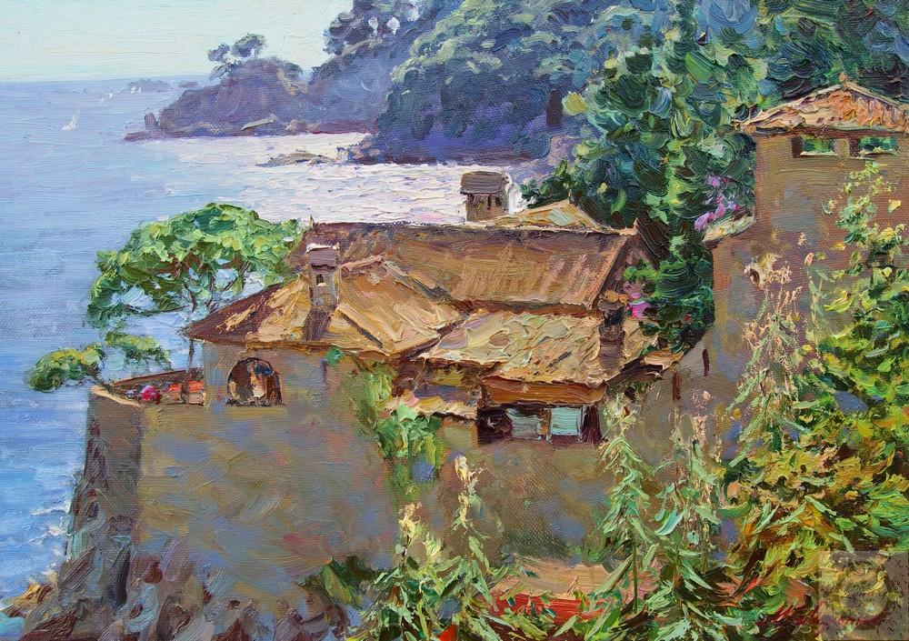 Максим Сидоренко, Дом у моря, х.м., 50х70, 2014..jpg