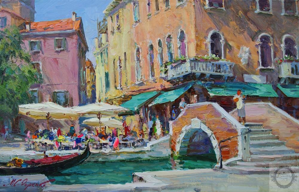 Максим Сидоренко, Кафе в Венеции, х.м., 45х70, 2014..jpg