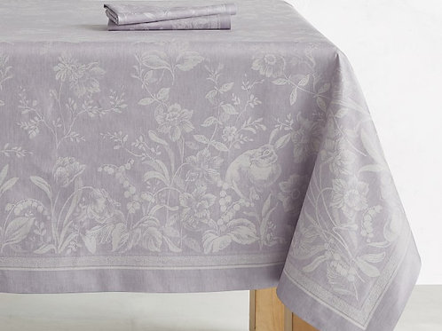 Purple Jacquard Tablecloth